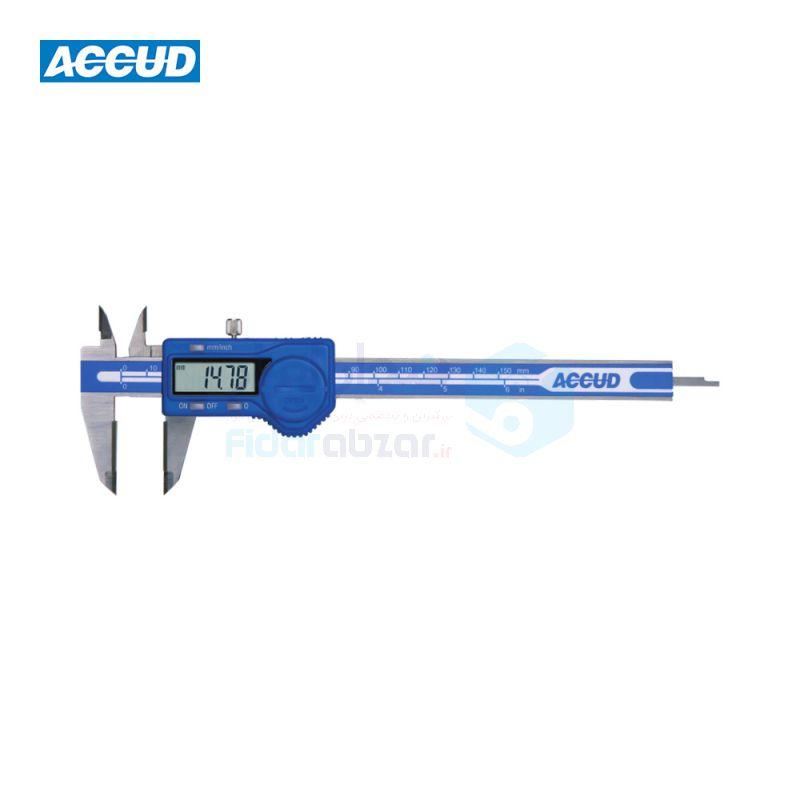 کولیس دیجیتال 15 سانتی متر دقت 0.01 فک کارباید ACCUD کد ACD-116-06-11