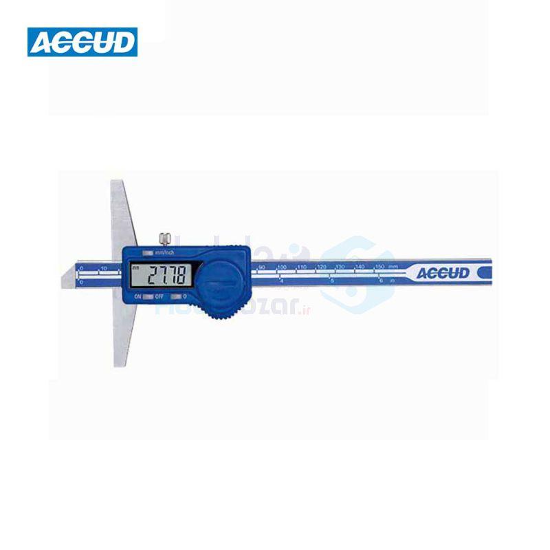 کولیس دیجیتال 15 سانت عمق سنج دقت 0.01 اکاد ACCUD کد ACD-171-06-11
