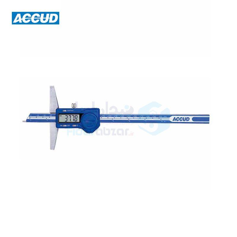 کولیس دیجیتال 20 سانت عمق سنج دقت 0.01 پین دار اکاد ACCUD کد ACD-172-08-11