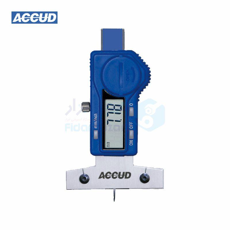 کولیس دیجیتال 2.5 سانت عمق سنج شیار لاستیک دقت 0.01 اکاد ACCUD کد ACD-176-030-12