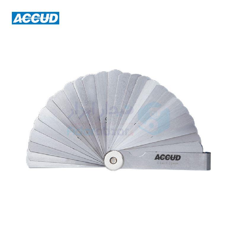 آچار فیلر 0.04-1.00 میلیمتر 25 تیغه به طول 75 میلیمتر اکاد ACCUD کد ACD-911-100-25