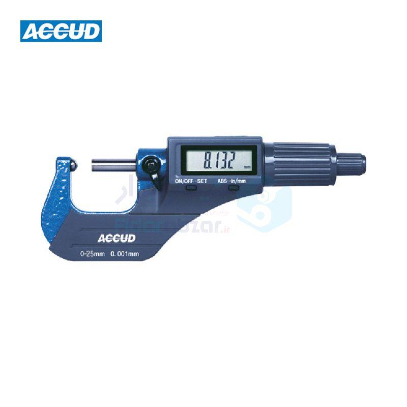 ریزسنج دیجیتال 0-25 میلیمتر یک فک کروی (لوله) دقت 0.001 اکاد ACCUD کد ACD-331-001-03