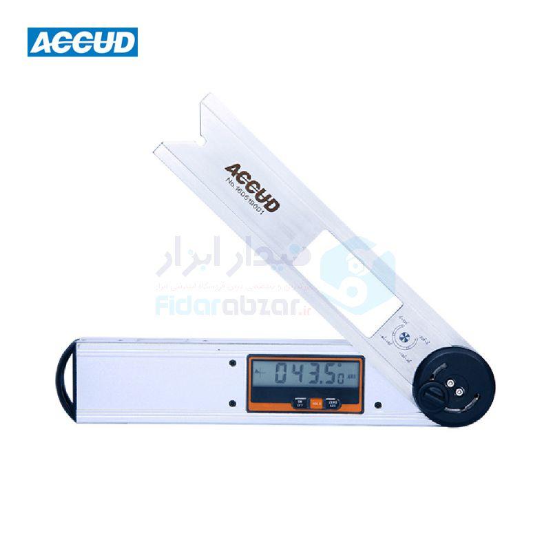 نقاله صنعتی (زاویه سنج) دیجیتال 360 درجه طول خط کش 25 سانت اکاد ACCUD کد ACD-726-360-01