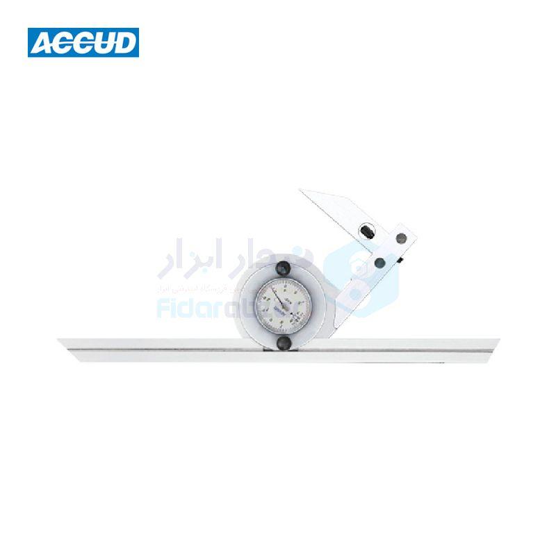 نقاله صنعتی (زاویه سنج) یونیورسال ساده 360 درجه طول خط کش 30 سانت اکاد ACCUD کد ACD-816-360-01