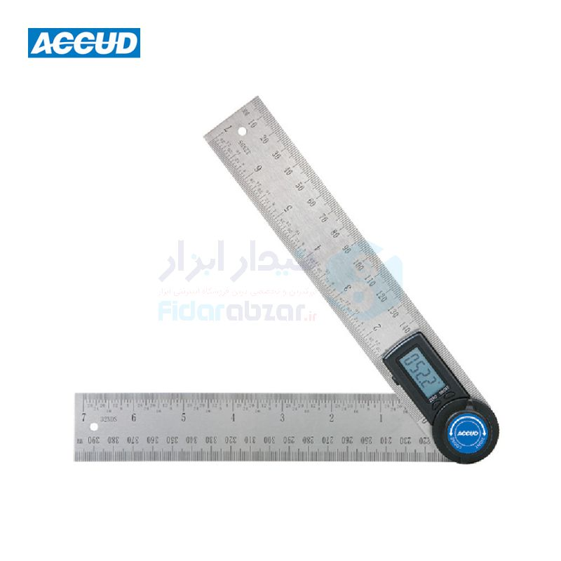 نقاله صنعتی (زاویه سنج) دیجیتال 360 درجه طول خط کش 30 سانت اکاد ACCUD کد ACD-821-008-01