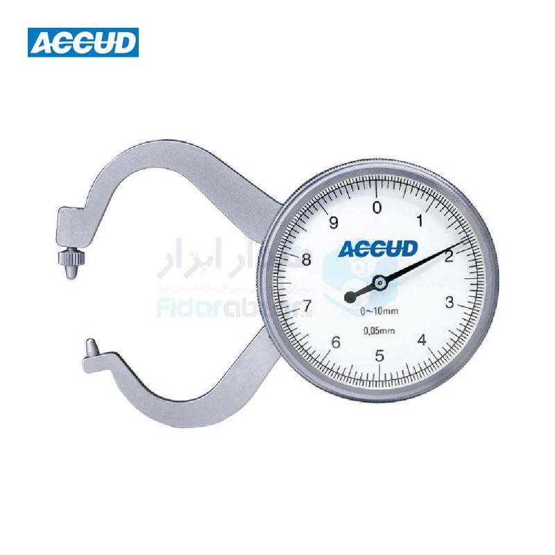 ضخامت سنج 10 میلیمتر ساعتی دقت 0.05 میلیمتر اکاد ACCUD کد ACD-451-010-11