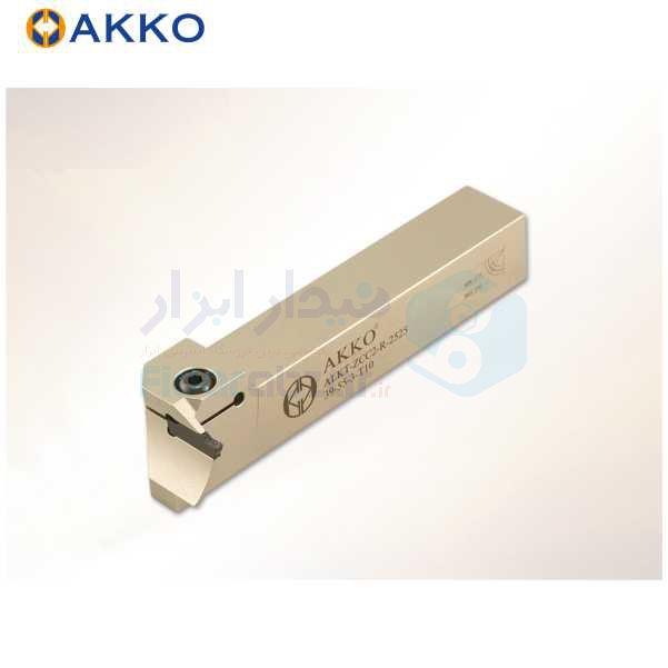هلدر تراشکاری شیار پیشانی روتراش 25x25 برش زد سی سی 3 برای قطر 35 الی 45 حداکثر عمق برش 10 اکو AKKO کد محصول ALKT-ZCC2 R/L 2525 35-45-3 T10
