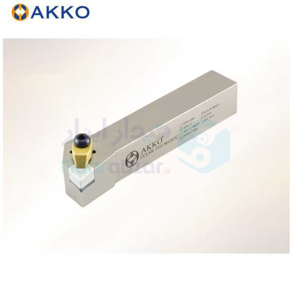 هلدر تراشکاری روتراش سیستم روبند 25x25 الماس CN 1207 اکو AKKO کد محصول CCLNR/L 25x25 M1207C