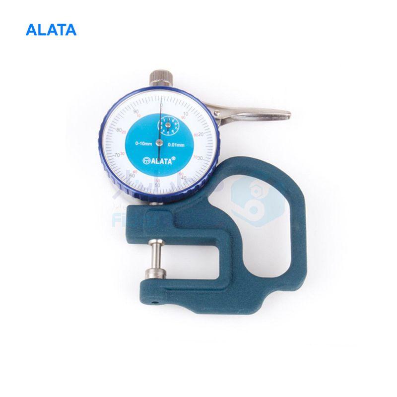ضخامت سنج 10 میلیمتر ساعتی دقت 0.01 میلیمتر الاتا ALATA کد ALATA-TDG1