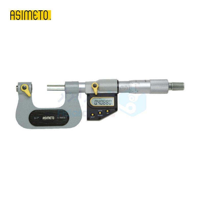 ریزسنج پیچ دیجیتال 0-25 میلیمتر دقت 0.001 اسیمتو ASIMETO کد AS-137-01-0