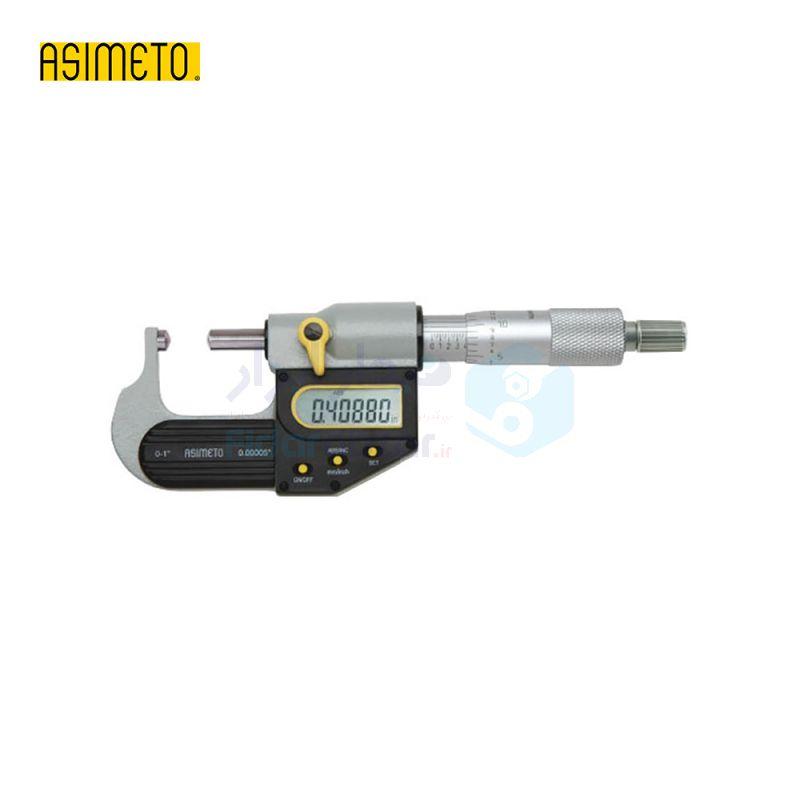 ریزسنج لوله دیجیتال 0-25 میلیمتر دقت 0.001 اسیمتو ASIMETO کد AS-147-01-0