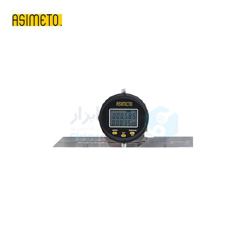 نقاله (زاویه سنج) یونیورسال دیجیتال 360 درجه طول خط کش 30 سانت اسیمتو ASIMETO کد AS-490-15-0