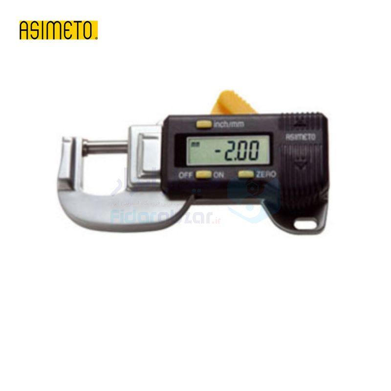 ضخامت سنج افقی 0-12 میلیمتر کوچک (جیبی) دیجیتال دقت 0.01 میلیمتر اسیمتو ASIMETO کد AS-325-30-0
