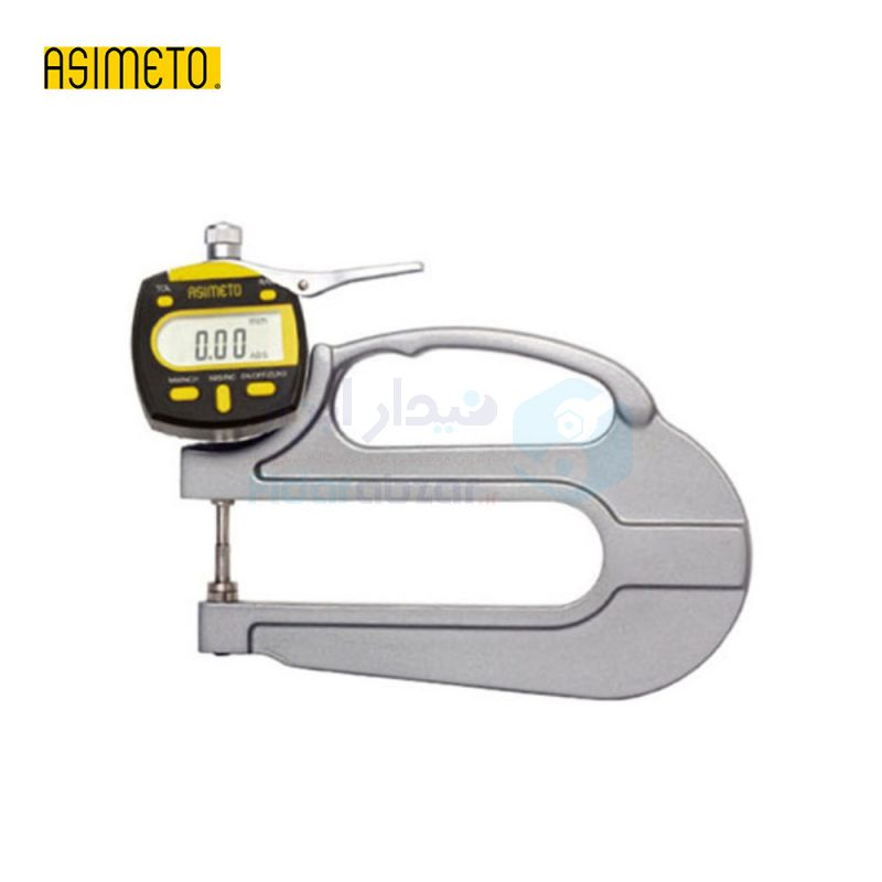 ضخامت سنج 0-10 میلیمتر دیجیتال دقت 0.01 میلیمتر بازوی 30 میلیمتر اسیمتو ASIMETO کد AS-495-01-0