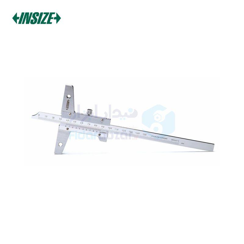 کولیس ورنیه 15 سانت عمق سنج دقت 0.02 (قابلیت افزایش طول فک) اینسایز INSIZE کد INZ-1247-1501