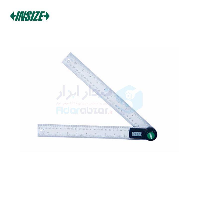 نقاله (زاویه سنج) دیجیتال 360 درجه طول خط کش 20 سانت اینسایز INSIZE کد INZ-2176-200
