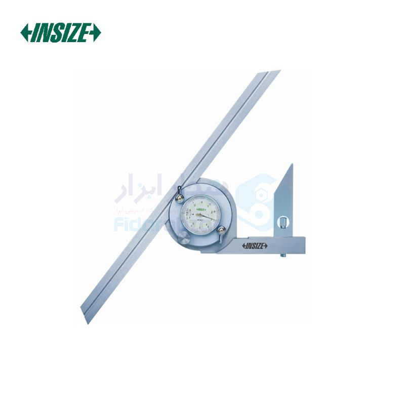 نقاله (زاویه سنج) یونیورسال ساعتی 360 درجه طول خط کش 30 سانت اینسایز INSIZE کد INZ-2373-360