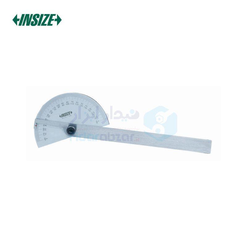 نقاله (زاویه سنج) ساده 180 درجه طول خط کش 15 سانت اینسایز INSIZE کد INZ-4780-85
