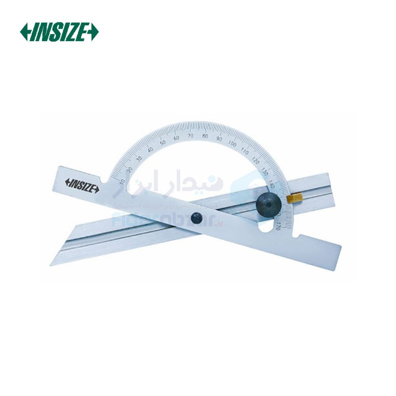 نقاله (زاویه سنج) ساده 10 تا 170 درجه طول خط کش 15 سانت با نقاله مرکب اینسایز INSIZE کد INZ-4797-100