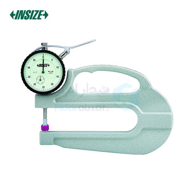 ضخامت سنج 10 میلیمتر ساعتی دقت 0.01 میلیمتر بازو 120 میلیمتر اینسایز INSIZE کد INZ-2365-10