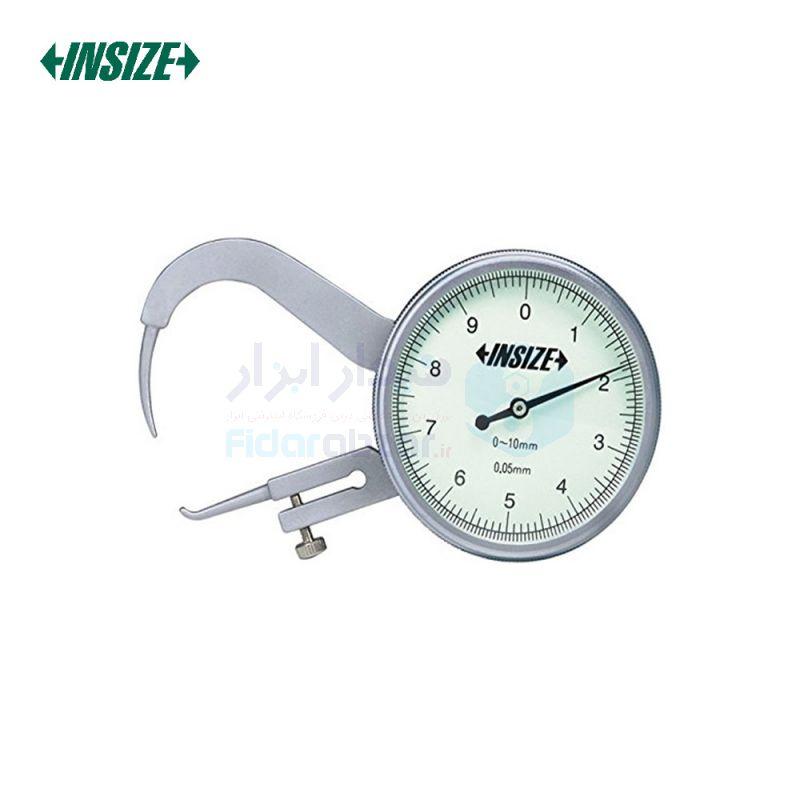 ضخامت سنج 10 میلیمتر ساعتی دقت 0.05 میلیمتر فک سوزنی اینسایز INSIZE کد INZ-2866-10