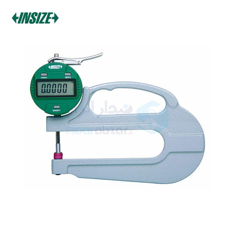 ضخامت سنج 10 میلیمتر دیجیتال دقت 0.01 میلیمتر بازو 120 میلیمتر اینسایز INSIZE کد INZ-2872-10