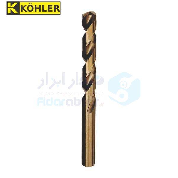 مته سوراخکاری قطر 0.5 طول لبه برنده 6 طول کل 22 متریال HSS-CO5% دین 338 کوهلر KOHLER کد TDCKHSSCO338 0.5