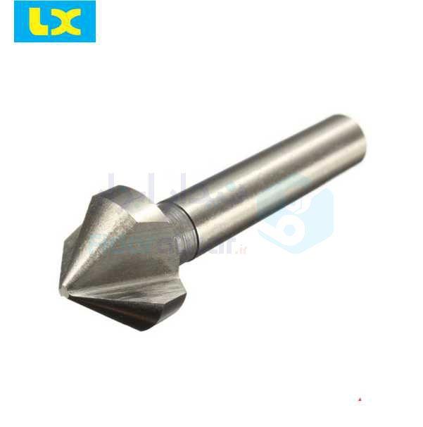مته خزینه قطر 6.3 میلیمتر زاویه 60 درجه طول کل 45 میلیمتر HSS دین DIN335 ال ایکس LX کد محصول CSLXHSS33560-6.3