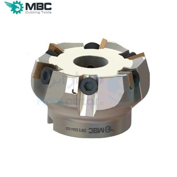 کفتراش فرزکاری قطر 200 شفت 60 اینسرت SP.. 1203.. ام بی سی MBC کد محصول EM75 200X12 060 SPKN 1203