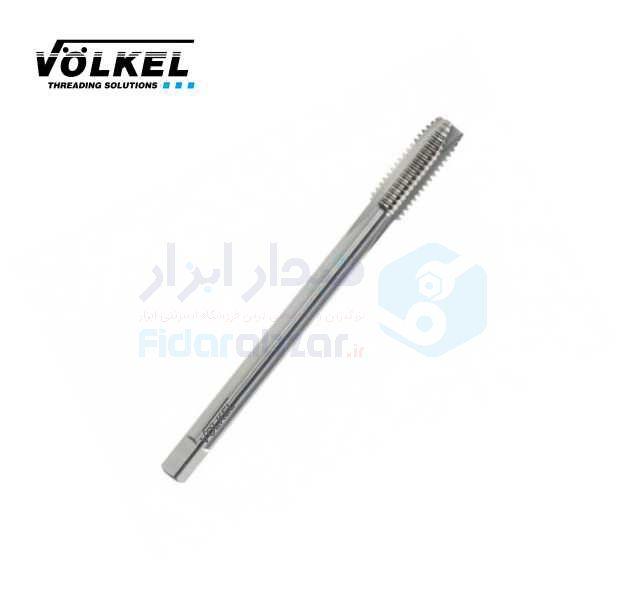 قلاویز ماشینی UNC 1/4x20 فرم B شیار مستقیم HSS-E دین 376 ولکل VOLKEL کد محصول MT-HSSE-376-B-N-UNC-1/4x20