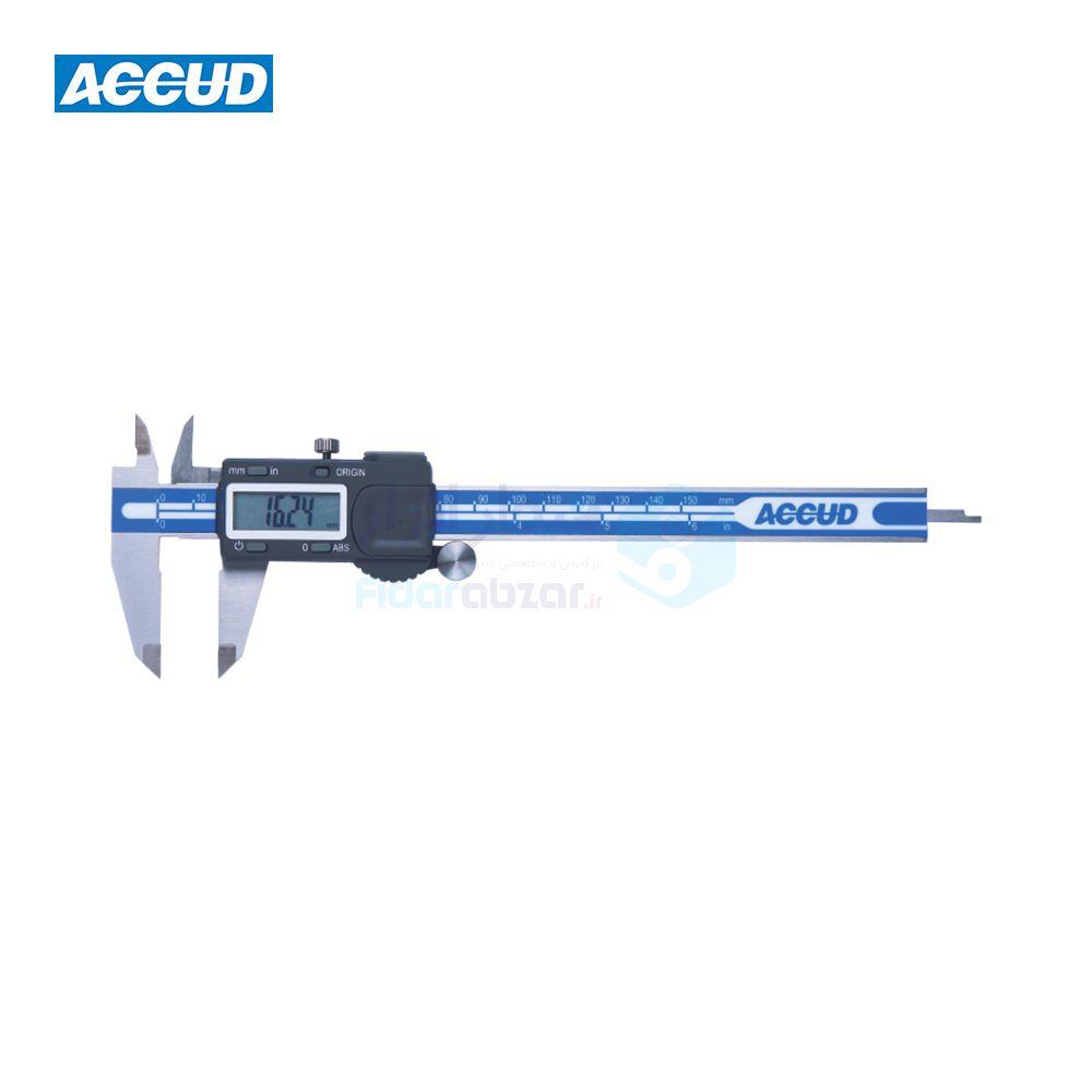کولیس دیجیتال 15 سانت دقت 0.01 دارای سیستم ABSOLUTE اکاد ACCUD کد ACD-111-06-17