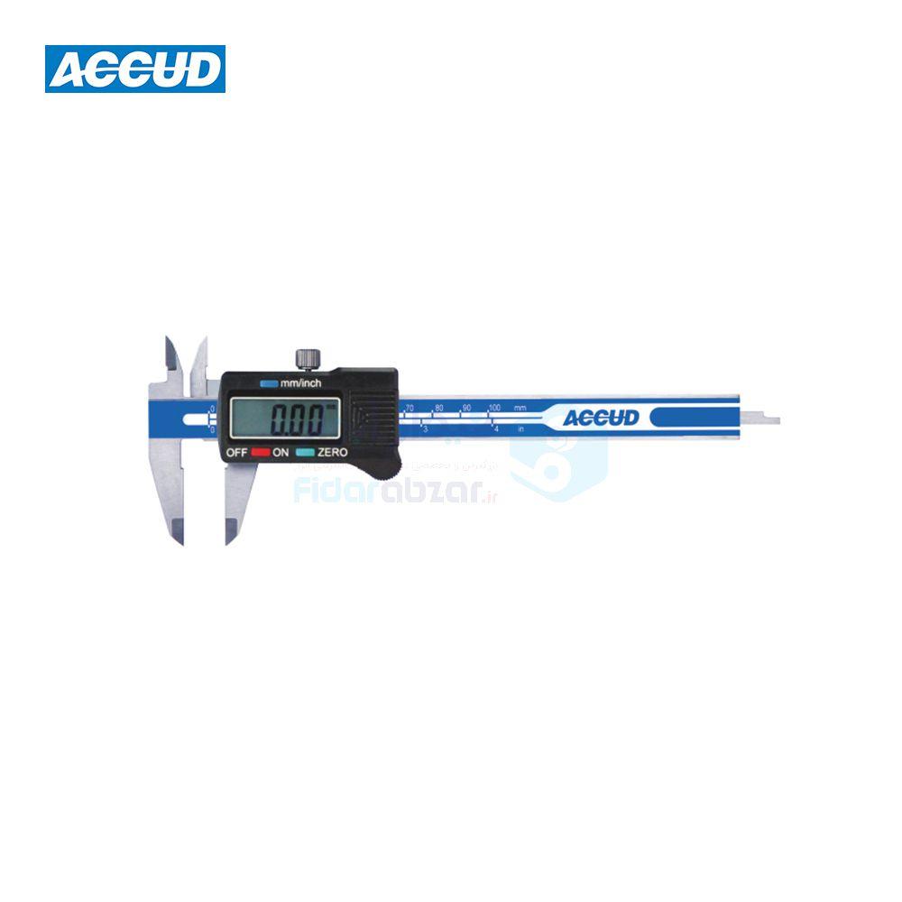 کولیس دیجیتال 10 سانتی متر دقت 0.01 اکاد ACCUD کد ACD-114-04-11
