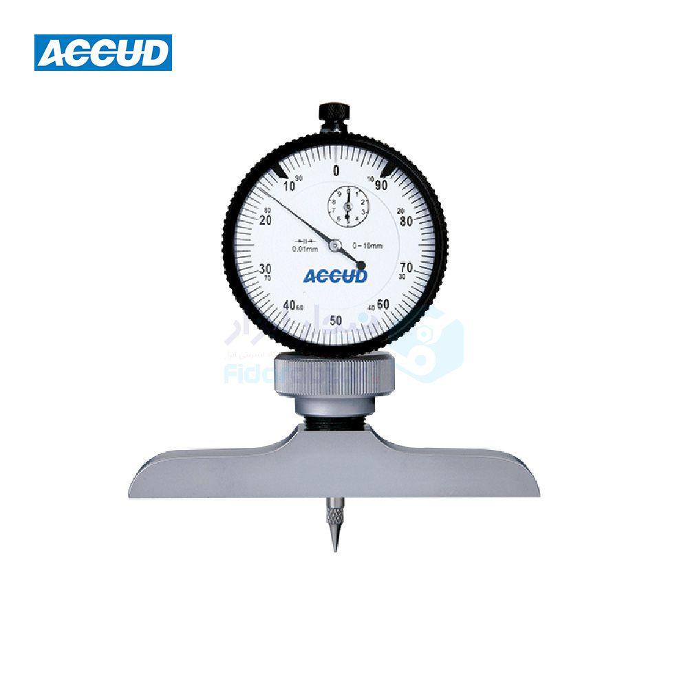 عمق سنج 10 میلیمتر ساعتی دقت 0.01 میلیمتر اکاد ACCUD کد ACD-291-010-11