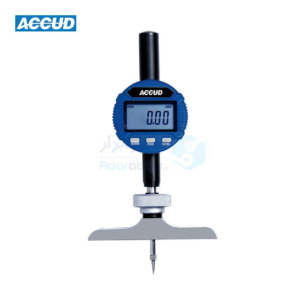عمق سنج 300 میلیمتر دیجیتال دقت 0.01 میلیمتر اکاد ACCUD کد ACD-293-300-11
