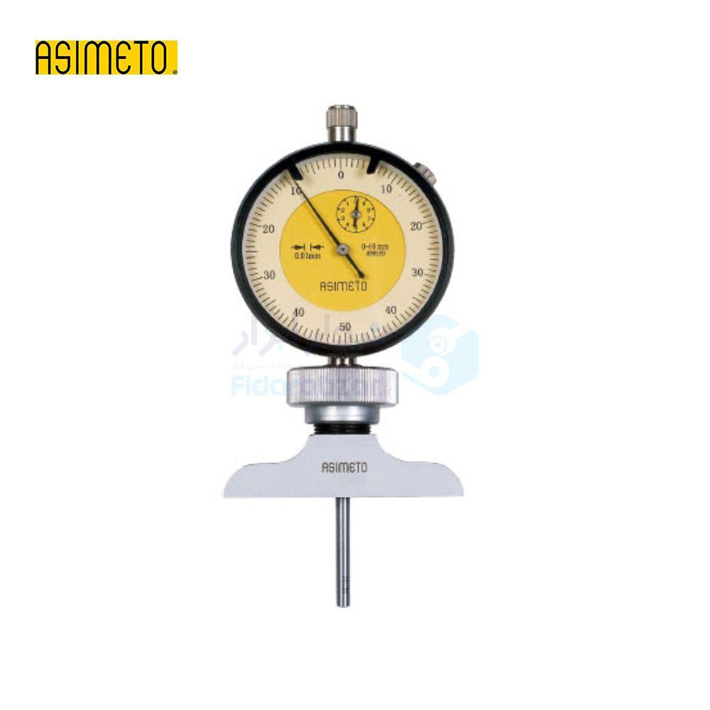 عمق سنج 100 میلیمتر ساعتی دقت 0.01 میلیمتر اسیمتو ASIMETO کد AS-473-04-2
