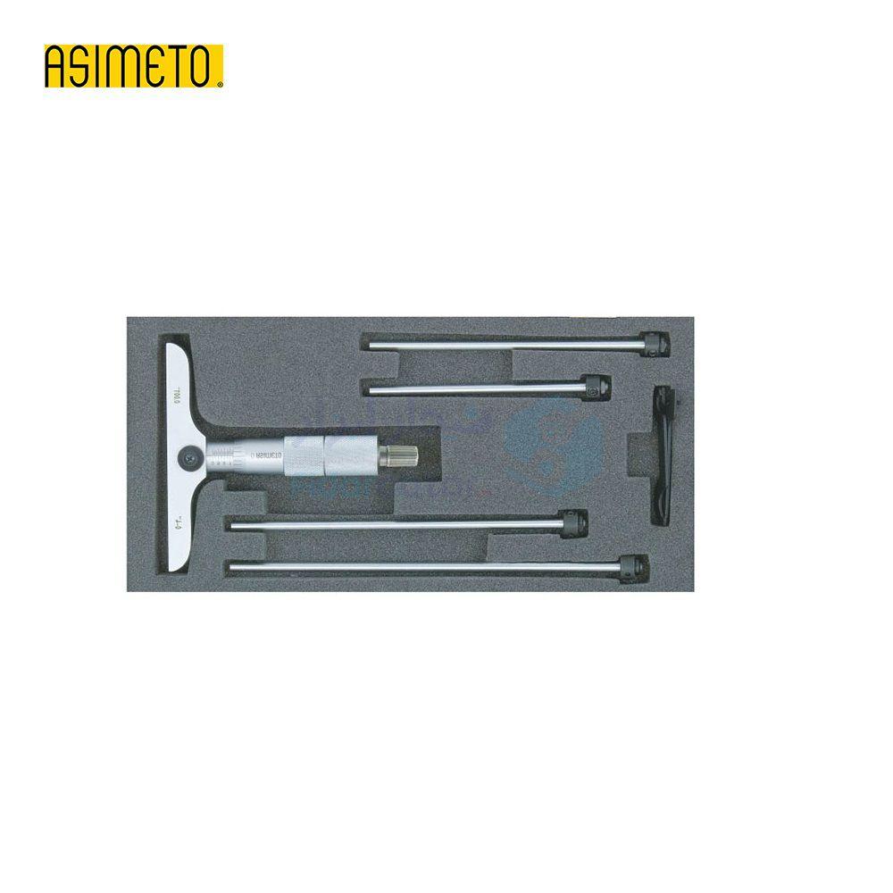 میکرومتر عمق سنج (صلیبی) 0-100 میلیمتر دقت 0.01 اسیمتو ASIMETO کد AS-201-04-0