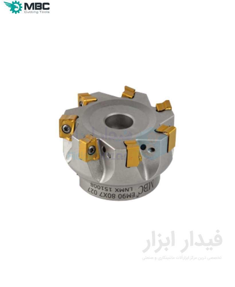 کفتراش فرزکاری قطر 160 شفت 40 اینسرت LN.. 1510.. ام بی سی MBC کد محصول EM90 160X12 040 LNMX 1510