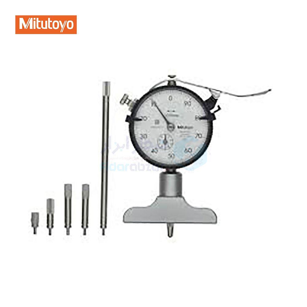عمق سنج 200 میلیمتر ساعتی دقت 0.01 میلیمتر میتوتویو MITUTOYO کد MT-7211