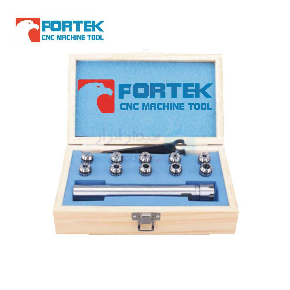 ست کلت فشنگی گیر 16 طول کارگیر 50 میلیمتر نوع فشنگی ER11 تعداد فشنگی 13 عدد پورتک PORTEK کد C16-ER11M-50-13