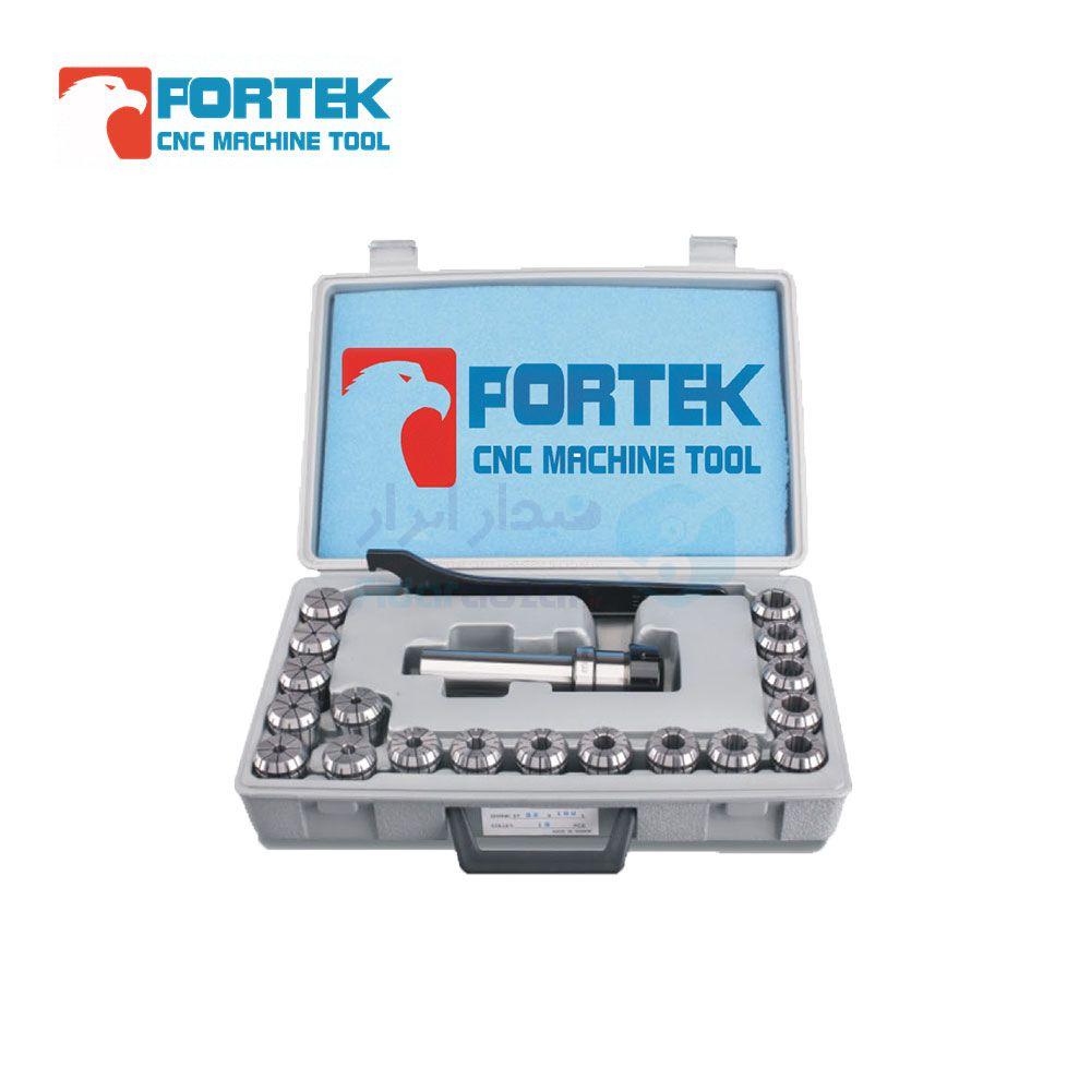 ست کلت فشنگی گیر 16 طول کارگیر 100 میلیمتر نوع فشنگی ER16 تعداد فشنگی 8 عدد پورتک PORTEK کد C16-ER16UM-100-8