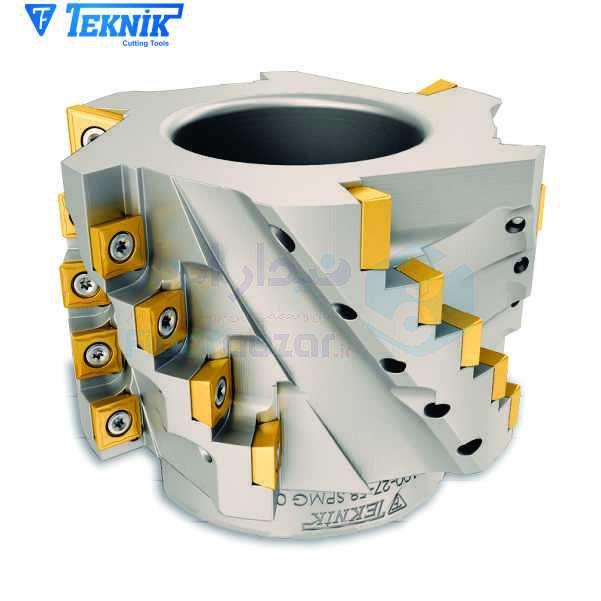 ابزار پیشانی تراش قطر 100 میلیمتر اینسرت SP.. 0904.. تکنیک TEKNIK کد محصول HF100 D100 Z27 K58 SP 09